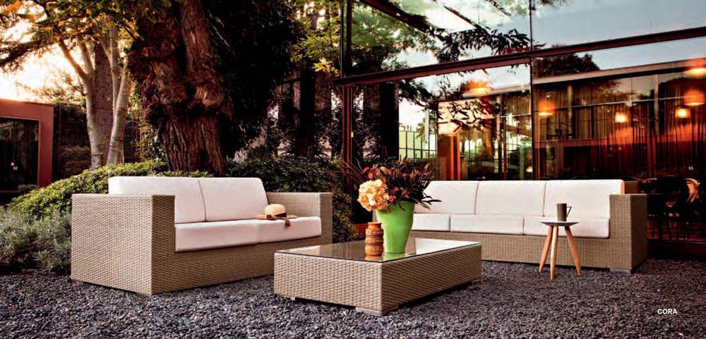 záhradný exterierový nábytok umelý ratan