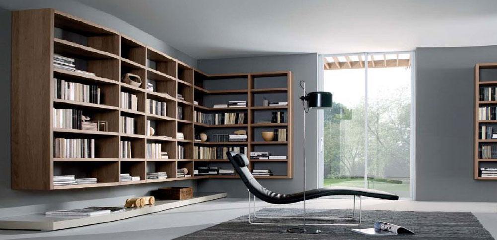návrh interieru moderná knižnica na mieru