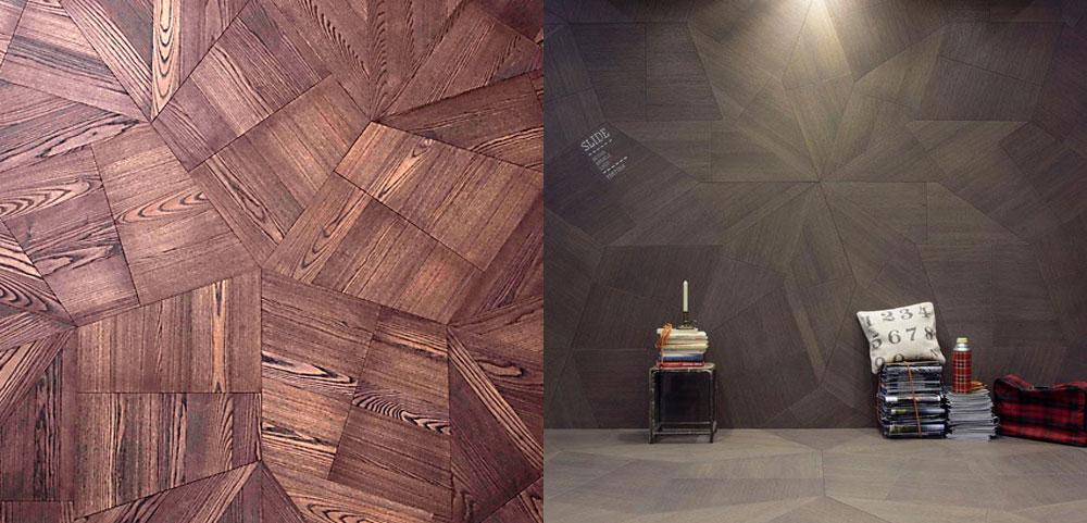 návrh interiéru s drevenými parketami