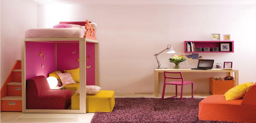 návrh interieru dievčenskej izby