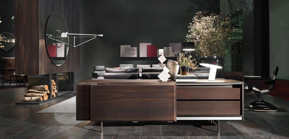 návrh interiéru drevený obklad