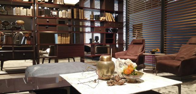 talianský nábytok na výstave v miláne
